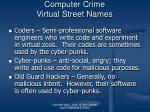 computer crime virtual street names