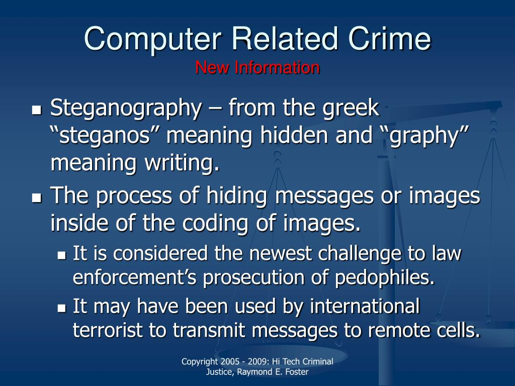 Computer Related Crime