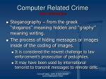 computer related crime new information