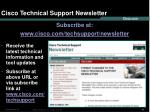cisco technical support newsletter
