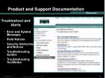 product and support documentation14