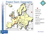 project team geographic