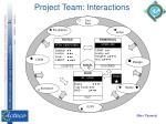 project team interactions