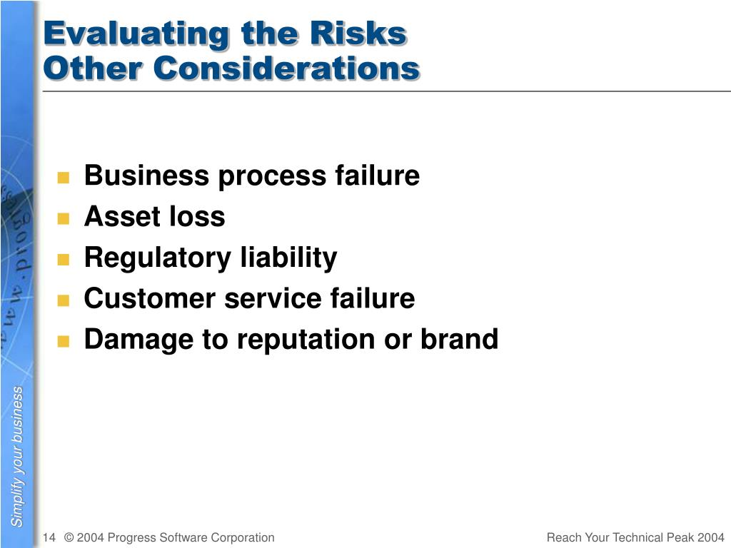 Evaluating the Risks