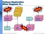 fathom replication what happens if