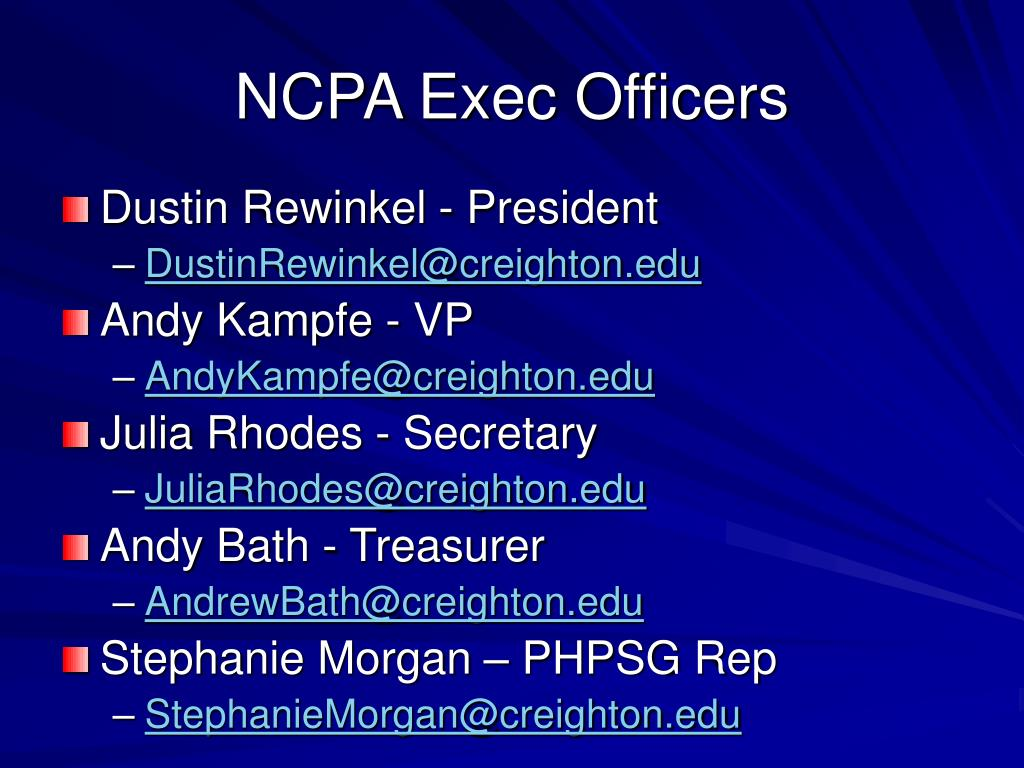 NCPA Exec Officers