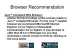 browser recommendation