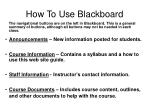 how to use blackboard