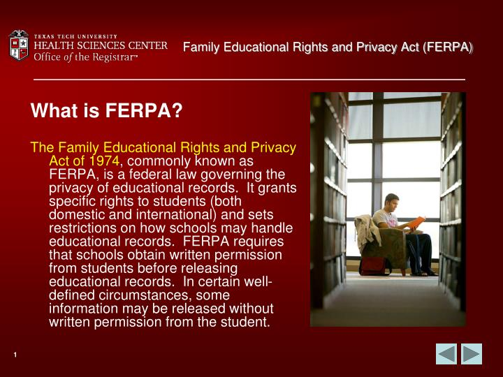 Family educational rights and privacy act ferpa2