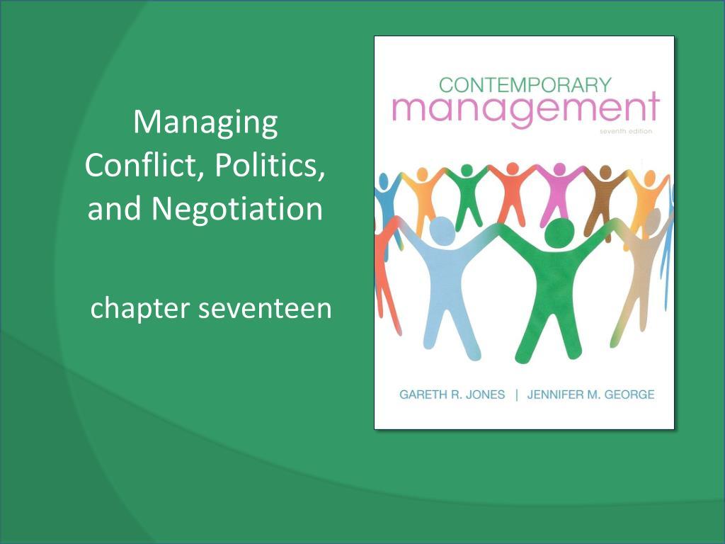 managing conflict politics and negotiation l.