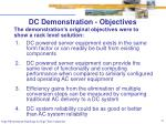 dc demonstration objectives
