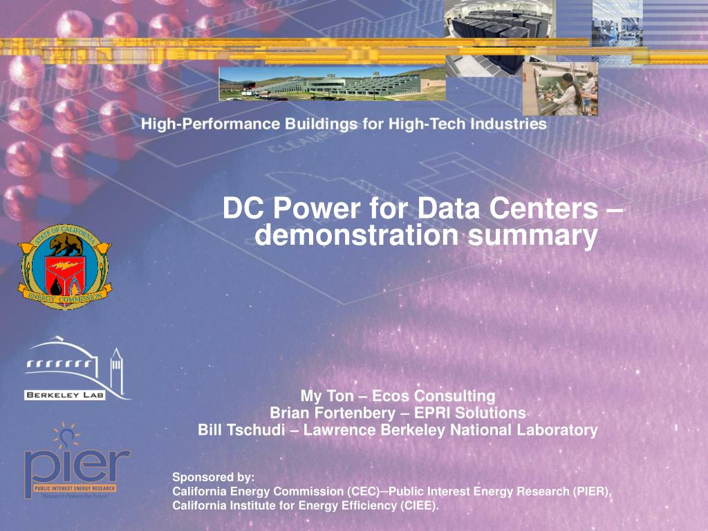 DC Power for Data Centers –