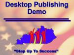 desktop publishing demo