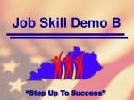 job skill demo b