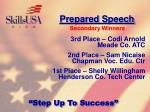 prepared speech114