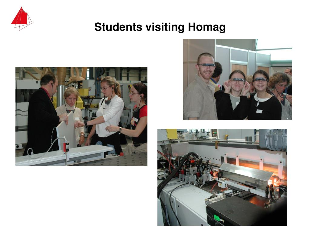 Students visiting Homag