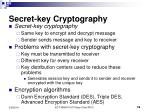 secret key cryptography16