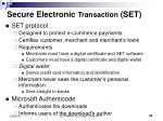 secure electronic transaction set