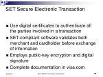 set secure electronic transaction32
