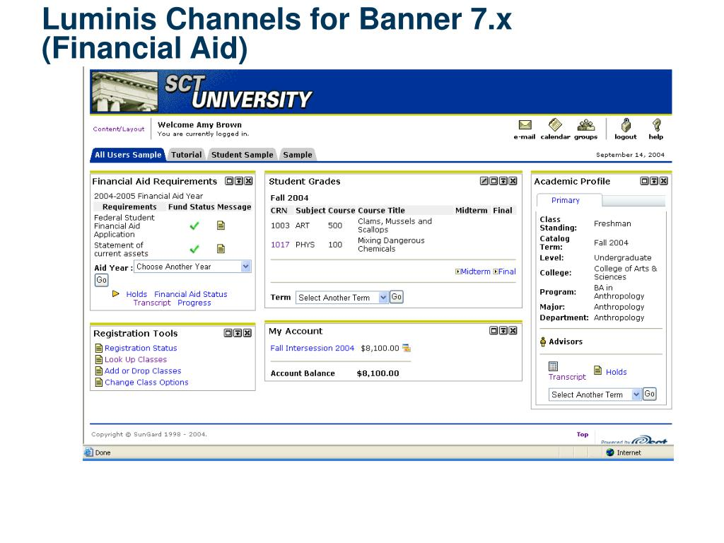 Luminis Channels for Banner 7.x
