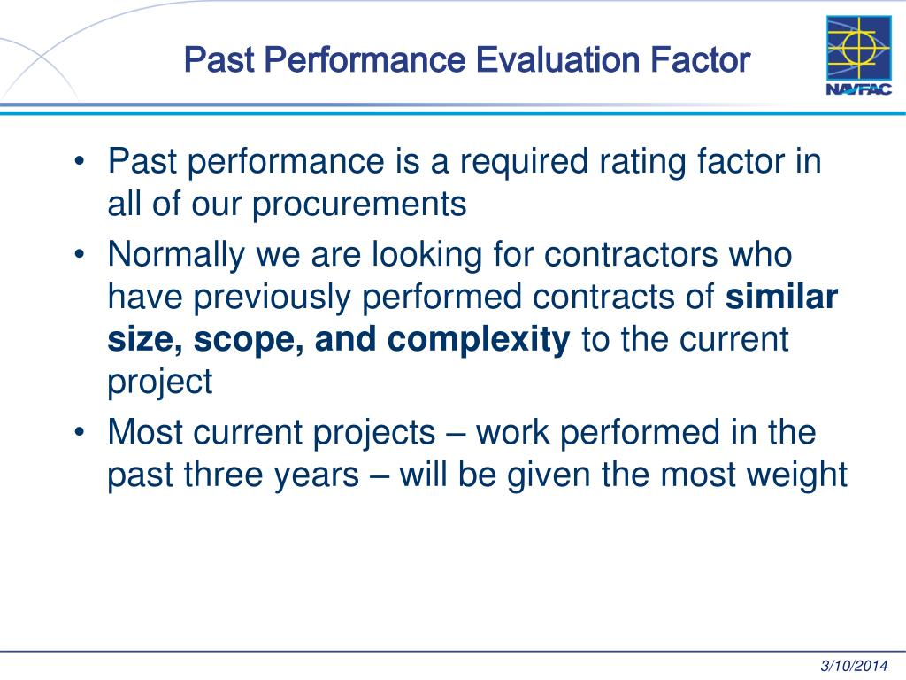 Past Performance Evaluation Factor