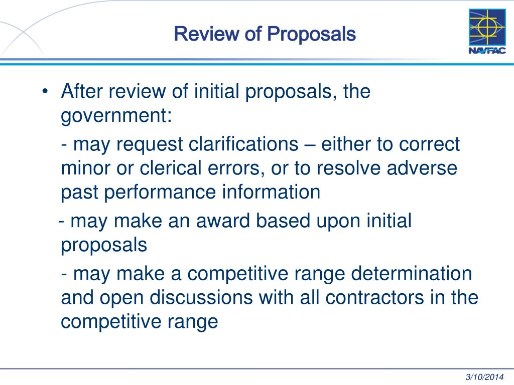 Review of Proposals