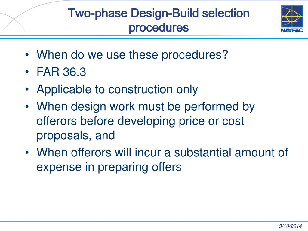 Two-phase Design-Build selection procedures