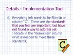 details implementation tool26