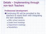 details implementing through non tech teachers33