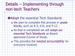 details implementing through non tech teachers35