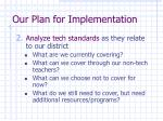 our plan for implementation15