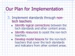 our plan for implementation16