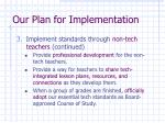 our plan for implementation17
