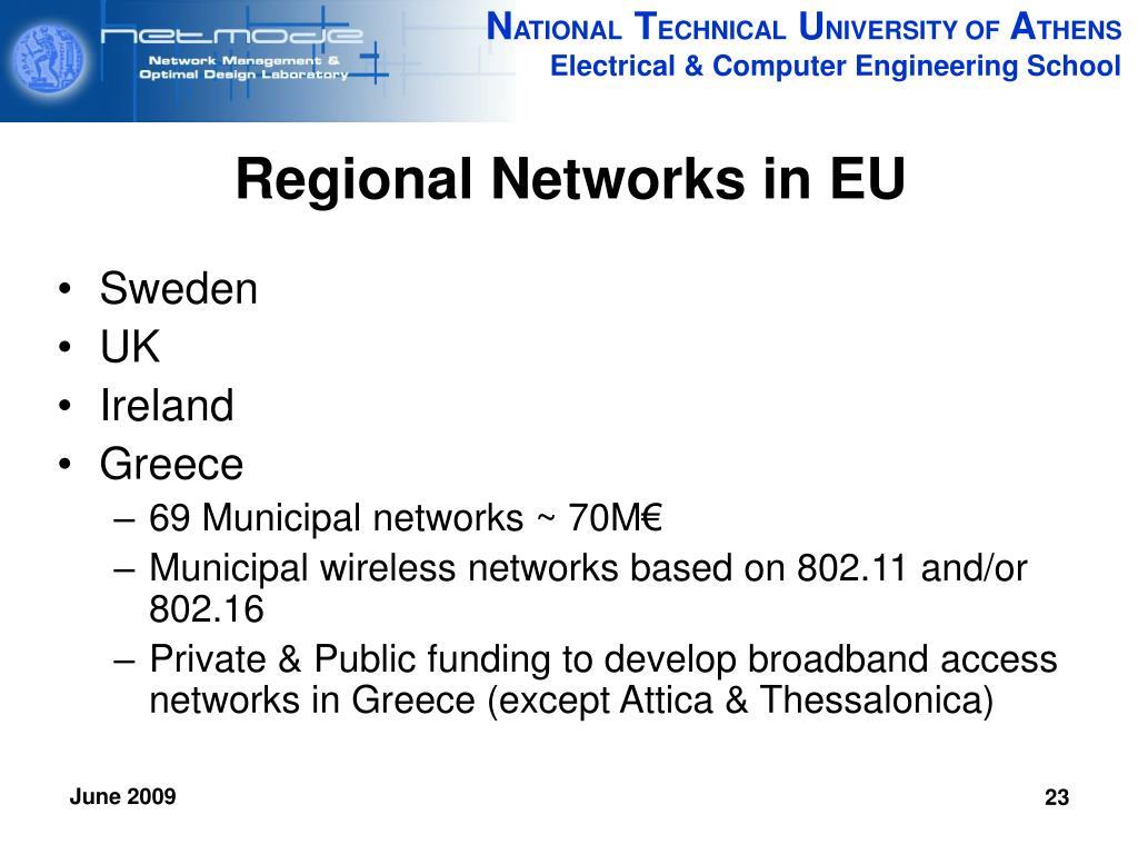 Regional Networks in EU