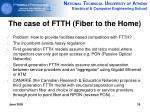 the case of ftth fiber to the home