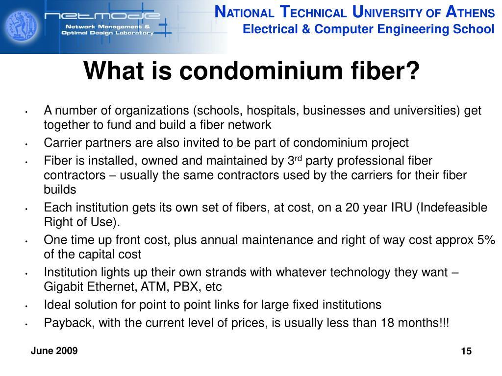 What is condominium fiber?