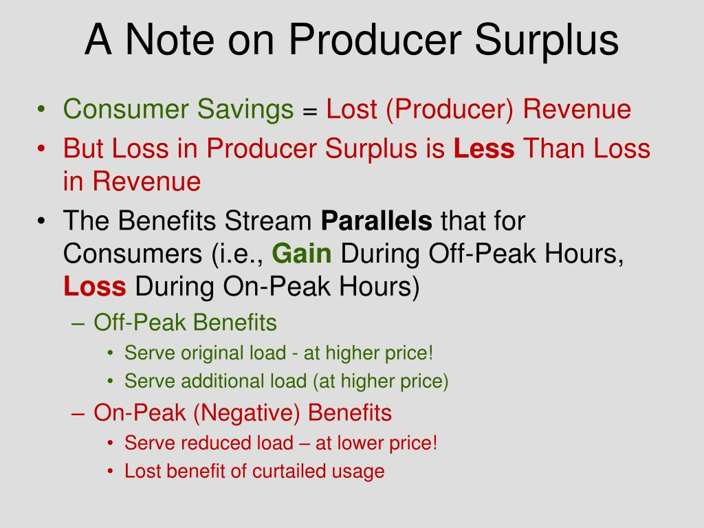 A Note on Producer Surplus