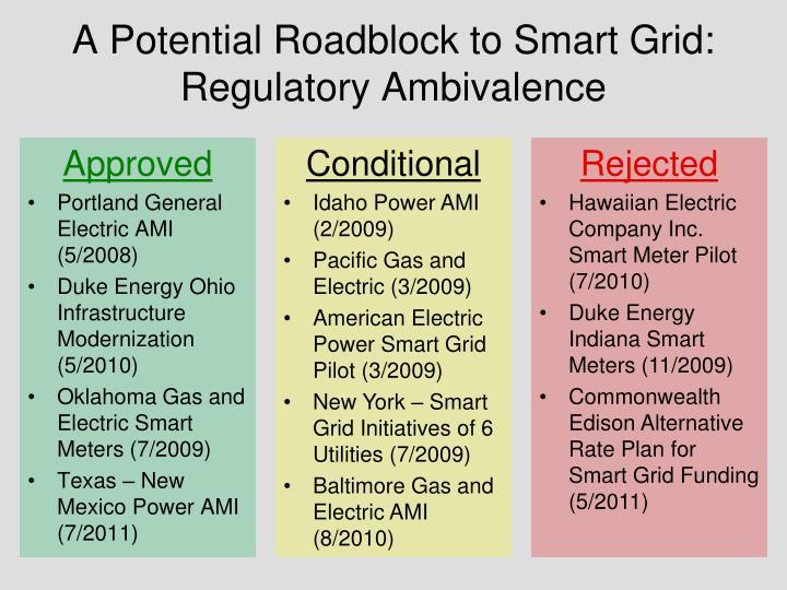A potential roadblock to smart grid regulatory ambivalence
