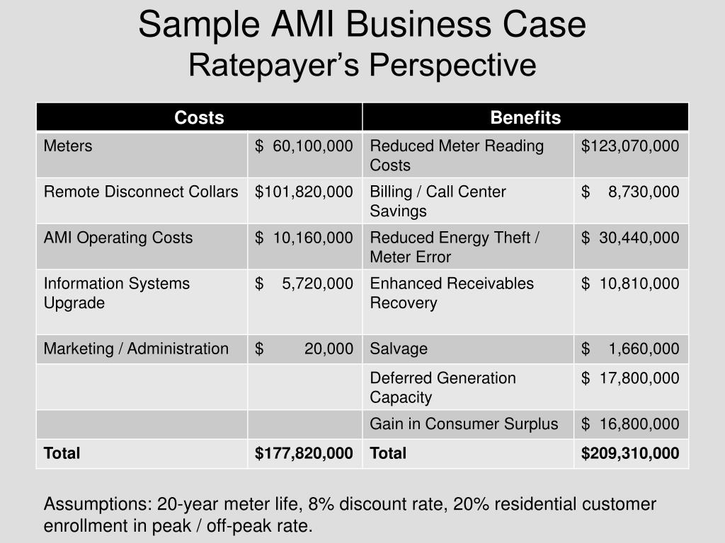 Sample AMI Business Case