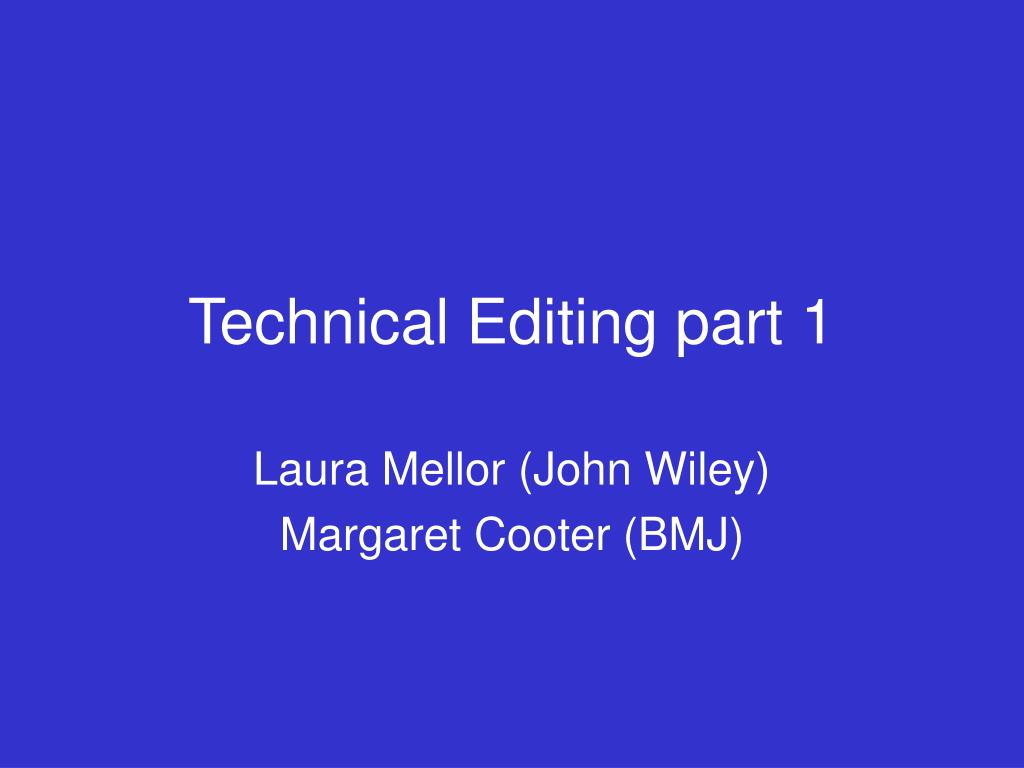 technical editing part 1 l.