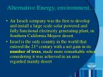 alternative energy environment