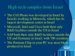 high tech samples from israel