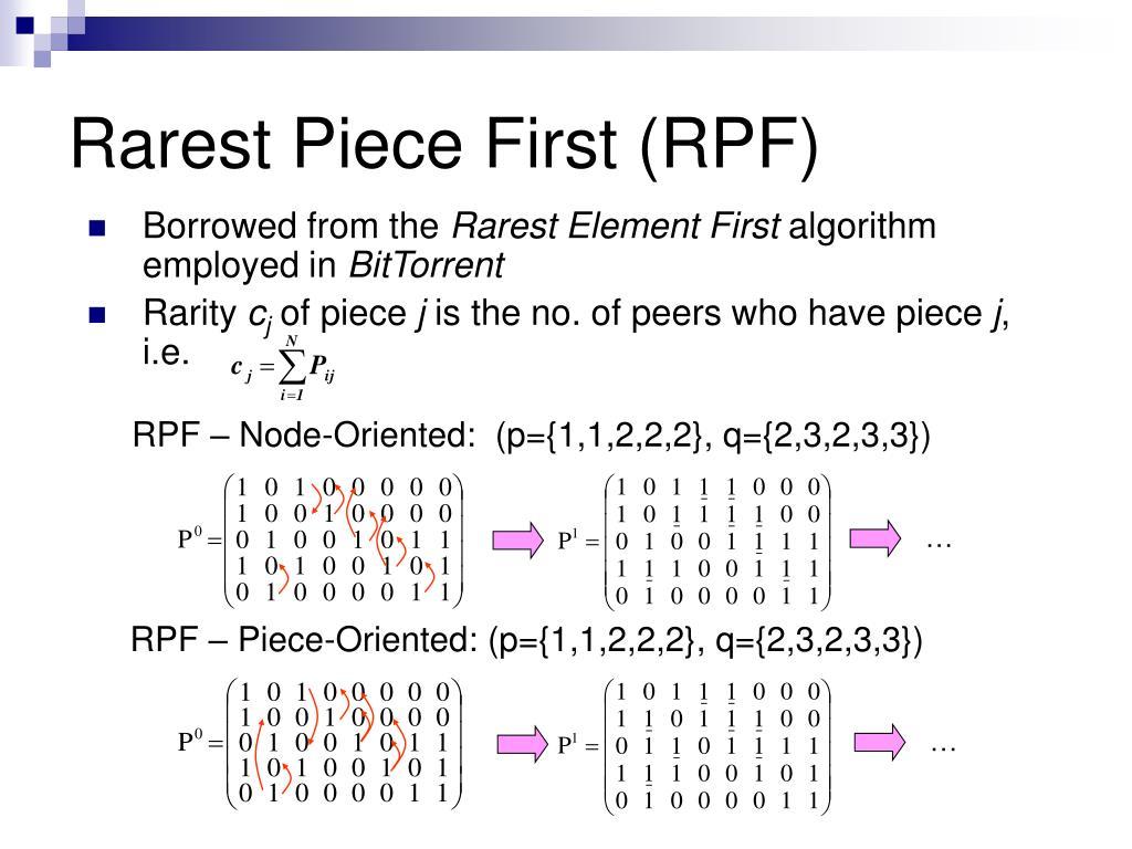 Rarest Piece First (RPF)