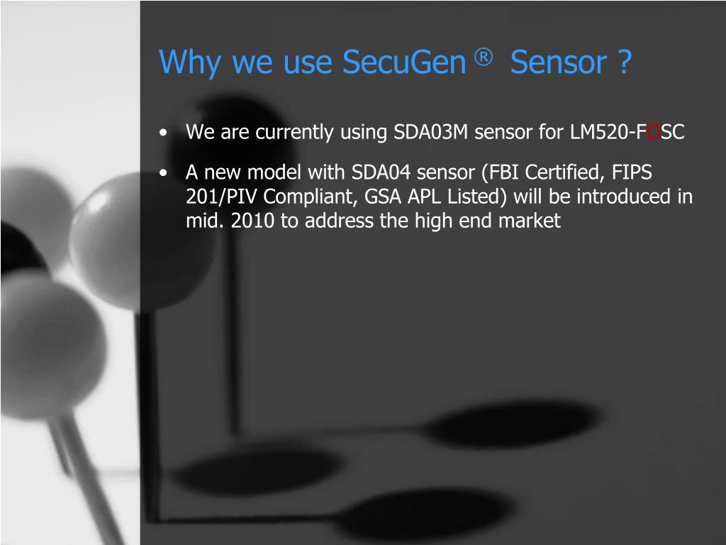 Why we use SecuGen