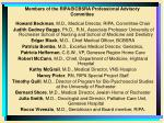 members of the ripa bcbsra professional advisory committee