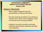 rochester community end of life survey report january 200128