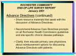 rochester community end of life survey report january 200129