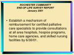 rochester community end of life survey report january 200133