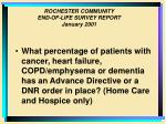 rochester community end of life survey report january 20019