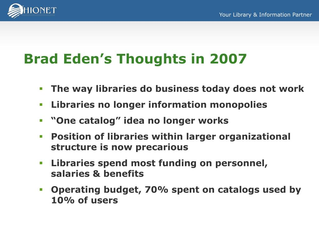 Brad Eden's Thoughts in 2007